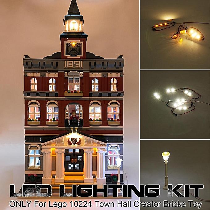 OEM LED lumière lumièreing Kit ONLY For Le go 10224 Town Hall Creator Building Bricks T à prix pas cher