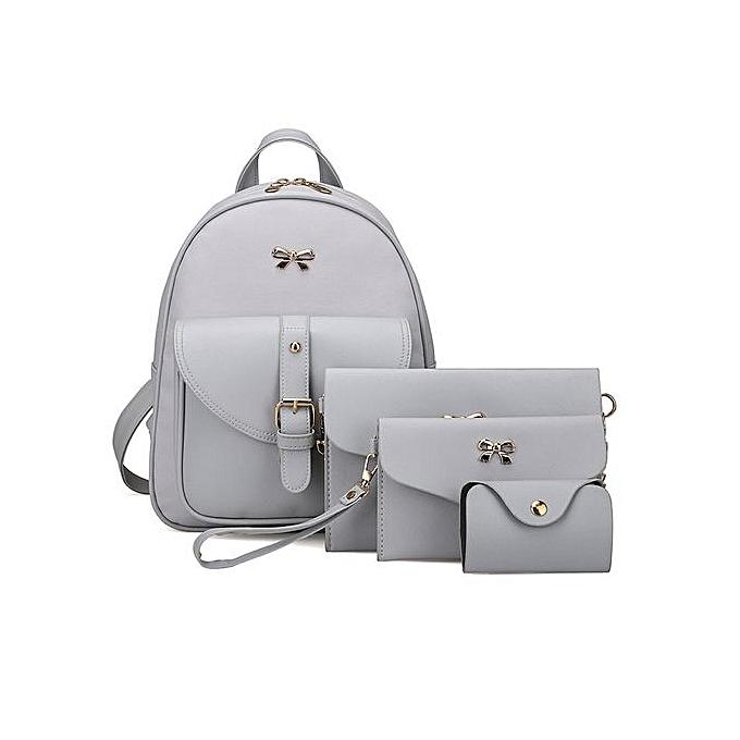 Fashion Xiuxingzi 4 Sets femmes Girl Travel Backpack School Bag Shoulder Bag Handbag GY à prix pas cher