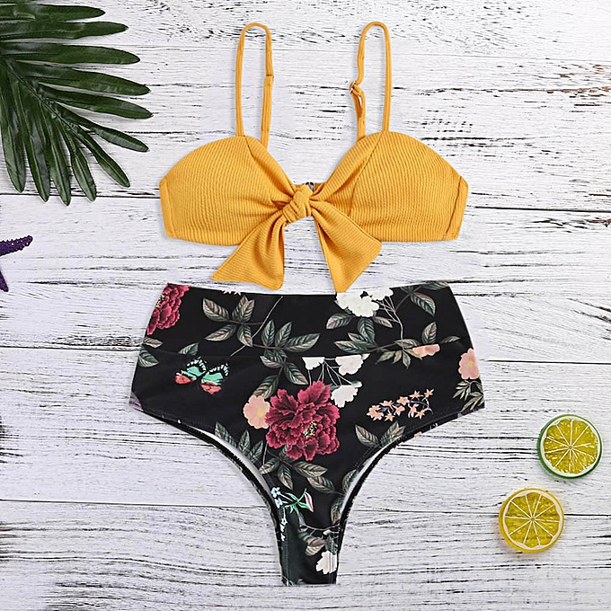 mode TCE femmes bowknot Print Set Push Up Two Pieces Bikinimaillot de bainplagewear à prix pas cher