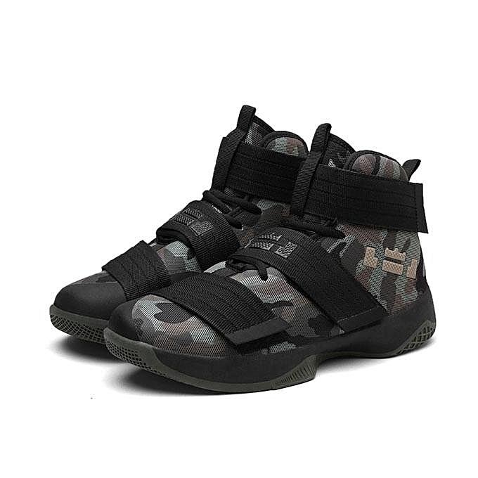 Fashion   Fashion  Athlelic Sport Shoes High Top Breathable Running Basketball Sneakers Outdoor-EU à prix pas cher  | Jumia Maroc d9b25b