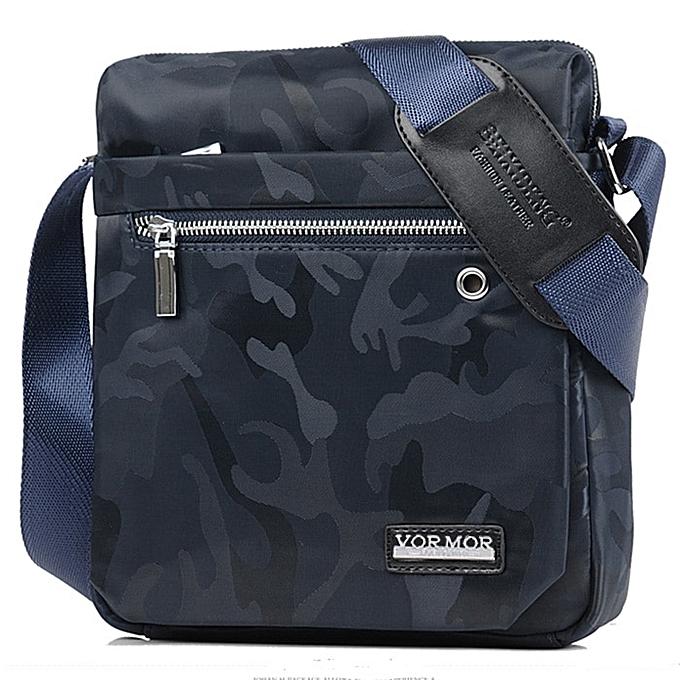 Other VORMOR Clic O Design Affaires Man sac Vintage Brand Pour des hommes Messenger sac Décontracté Grid Shoulder sac For Male bolsa Hot(Camouflage bleu) à prix pas cher