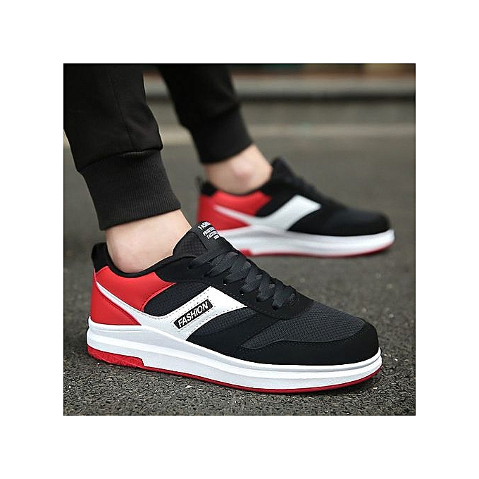 Other Men's Heighten Lace up Mesh baskets Breathable Jogging chaussures -rouge à prix pas cher