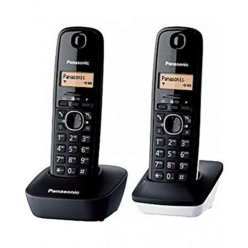 Commandez Panasonic Téléphone Fixe KX-TG1612 Duo - Noir à prix pas ... 69c9e268b872