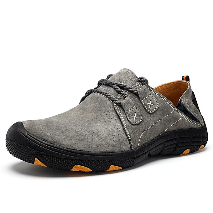 mode Hommes's plus Taille hiking chaussures - gris à prix pas cher