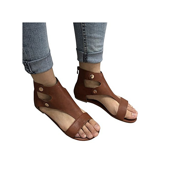 Fashion Hiamok_Summer Ladies femmes Sandals Fashion Flat Rohomme chaussures Casual chaussures à prix pas cher
