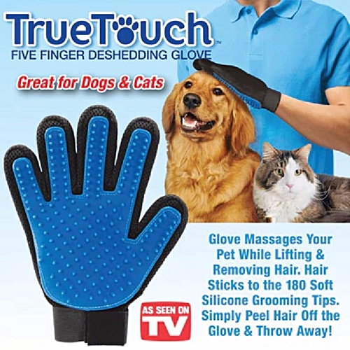 cf3d5c27ab OEM New style True Touch Glove Pet Dog Cat Grooming Deshedding Hair Remover  Fur/Penggosok Bulu Kucing ( Right )