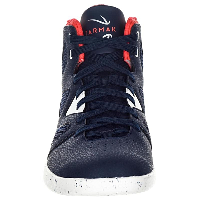 09bf6b383ef ... CHAUSSURE BASKETBALL POUR ADULTE H F DEBUTANT BLEU BLANC ROUGE TARMAK