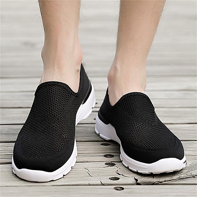 Fashion jiahsyc store Summer Men's Hollow Mesh Lightweight Breathable baskets Slip-On Casual chaussures à prix pas cher