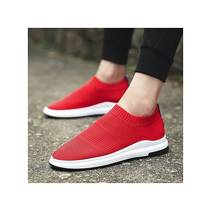 OEM Breathable lazy hommes sports and leisure hommes chaussures set foot socks chaussures-rouge à prix pas cher