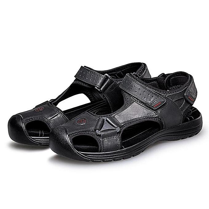 Fashion Outdoor Fashion   Anti-collision Toe Shock Absorption Outdoor Fashion Leather Hiking Sandals-EU à prix pas cher  | Jumia Maroc b57dc3