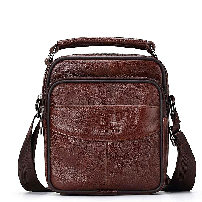 Other FUZHINIAO TOP Quality New Men Messenger Bags Casual Multifunction Male Travel  Leather Shoulder Bag Handbags Masculina(marron) à prix pas cher