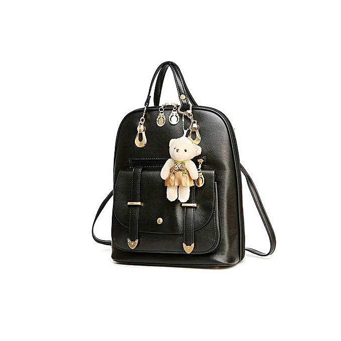Fashion Correponde femmes Girl School Leather Shoulder Bag Backpack Travel Rucksack Purse BG à prix pas cher