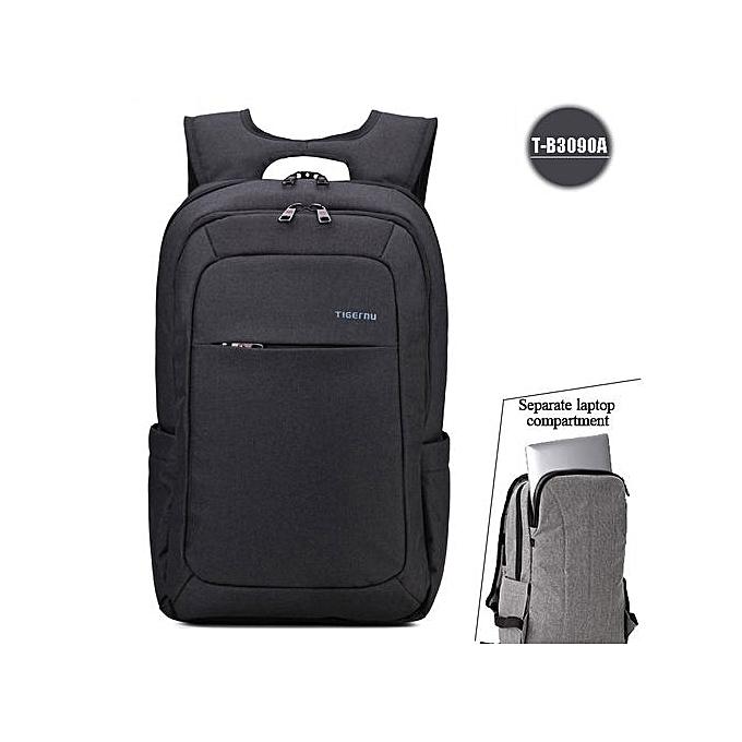 Generic Nice Anti Theft Hommes's Affaires Daily Laptop sac à dos noir à prix pas cher