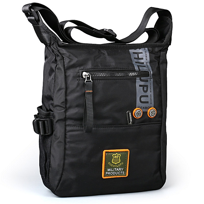Other 2018 Men Messenger Multifunction Bags fashion crossbody bag Leisure oxford cloth casual travel men messenger bag Toolkit(noir) à prix pas cher