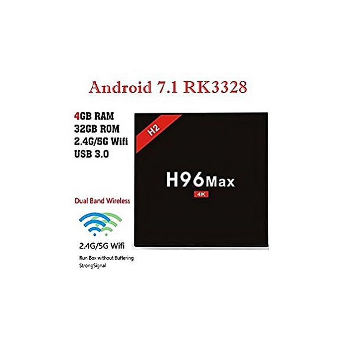 H96 MAX 4G Ram 32G Rom Android 7 1 Nougat TV Box H96 MAX