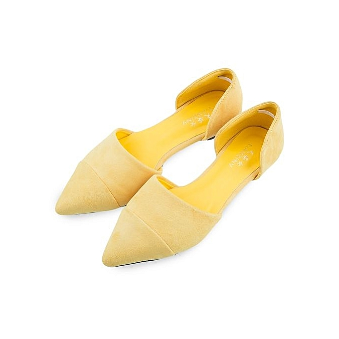 Fashion Stylish Pure Pure Stylish Color Pointed Toe Shollow Mouth Ldies Flat Shoes à prix pas cher  | Jumia Maroc 1b4e7c
