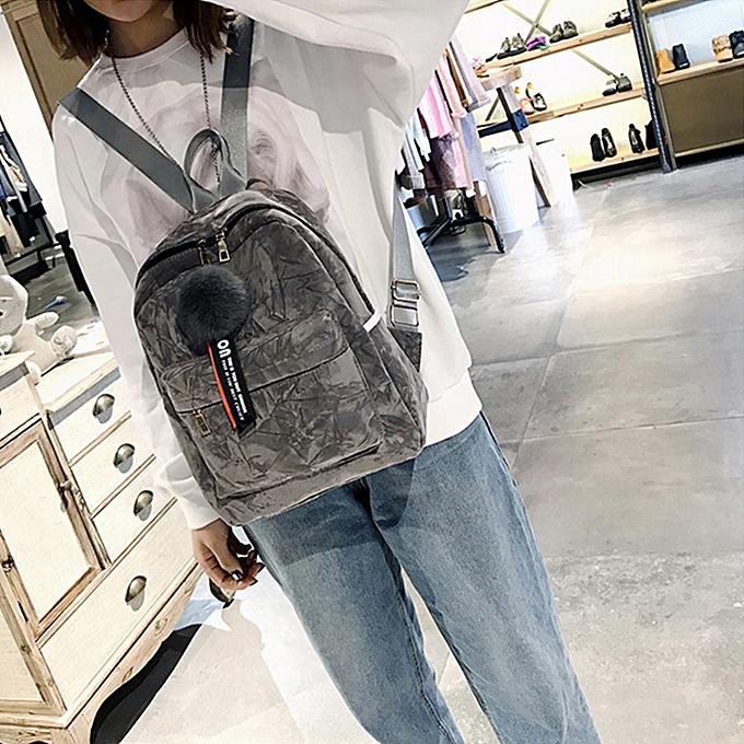 mode Singedan Shop Wohommes mode Plush Ball Shoulder sacs sac à dos voyage sac à dos à prix pas cher