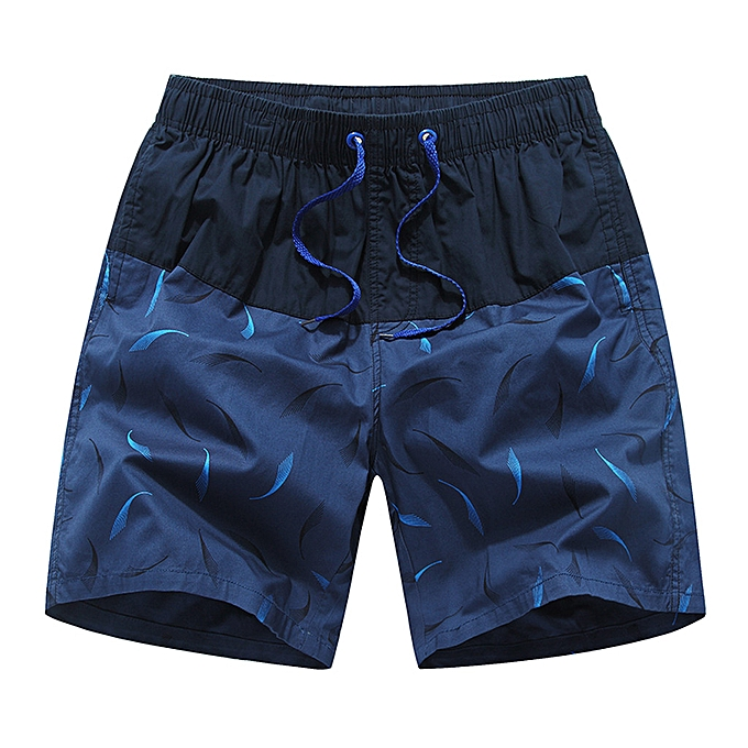 Fashion Men's Summer New Cotton Printed Short Sleeves Fashion Loose Taille Beach Pants à prix pas cher