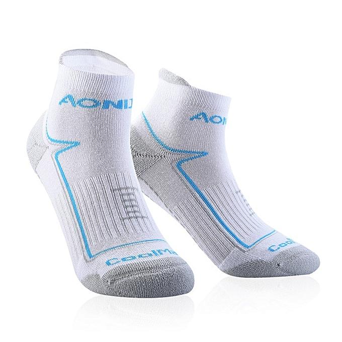 AONIJIE Outdoor Sports Running Athletic Perforhommece Tab Training Cushion Quarter Compression Socks Heel Shield Cycling(3)(L) à prix pas cher