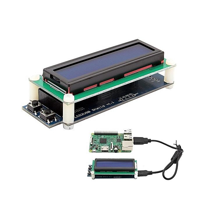 UNIVERSAL 1602 RGB LCD Display With USB Port For Raspberry Pi 3B 2B B+ Windows Linux à prix pas cher