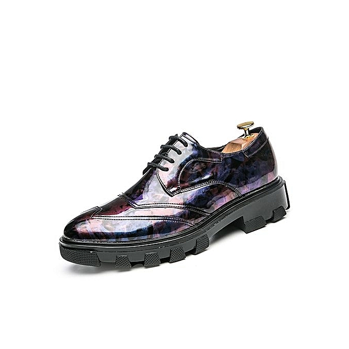 Tauntte New Men Formal Leather chaussures Height Increasing Male Casual chaussures (violet) à prix pas cher    Jumia Maroc