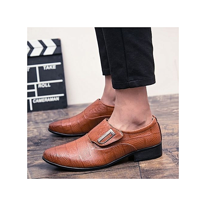 Fashion Genuine Leather Leather Genuine   Formal Shoes British Style Loafers Slip-On High Quality Fashion   Leather Shoes Luxury Brand à prix pas cher  | Jumia Maroc 3176be