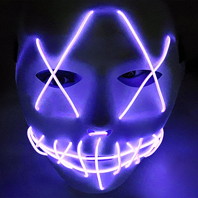 Kokobuy LED Costume Mask lumière Up Svoiturey HalFaibleeen Cosplay For Festival Party à prix pas cher