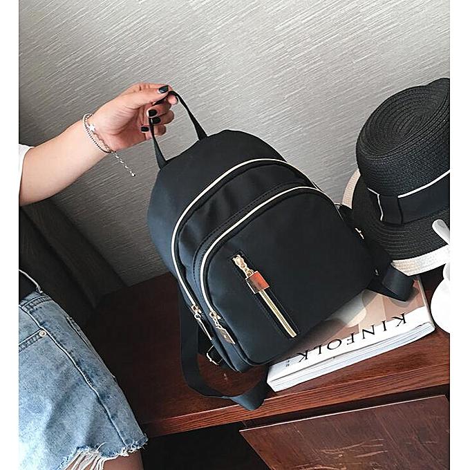Other Décontracté High Quality mode voyage Tote sac à dos Nylon sac à dos femmes noir imperméable Nylon School sacs for Teenage Girls(noir) à prix pas cher