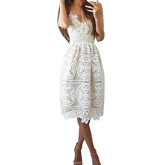Fashion schoolcool femmes Sleeveless Formal Prom Party Bridesmaid Wedding Ball Gown Cocktail Dress à prix pas cher
