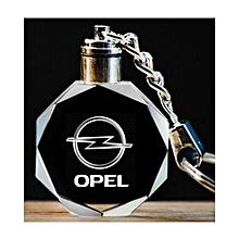 Porte Cle en cristal avec led pour les voitures Opel Logo de voiture Opel  sur Porte 1d68e3f1769