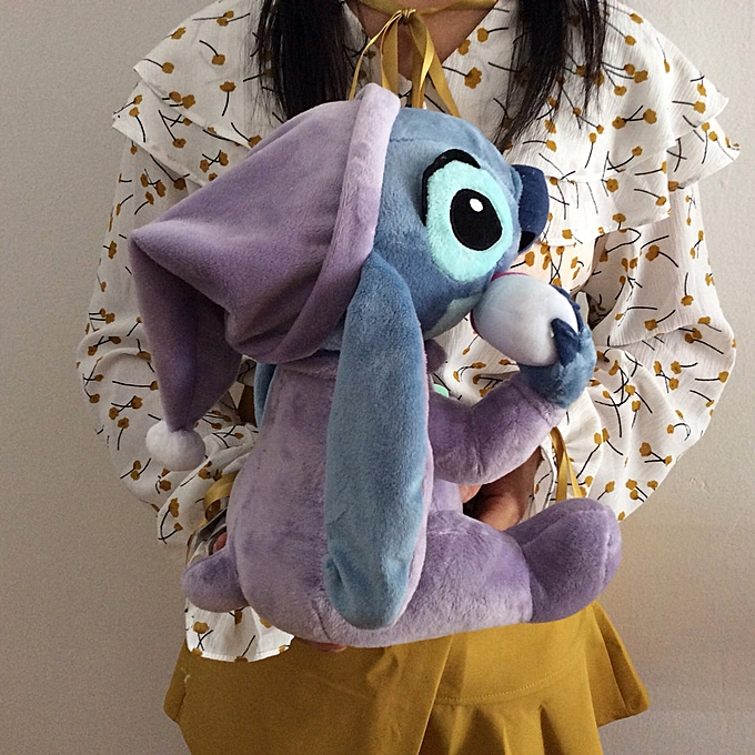 Autre Free shipping Lilo And Stitch Plush Toys Sitting height 28cm baby's bottle Stitch Stuffed Animal Soft kids Doll for gift à prix pas cher