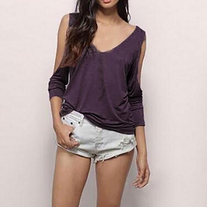 mode meibaol store femmes été mode Décontracté Off Shoulder Crop Solid Sling hauts Backless T-Shirt à prix pas cher