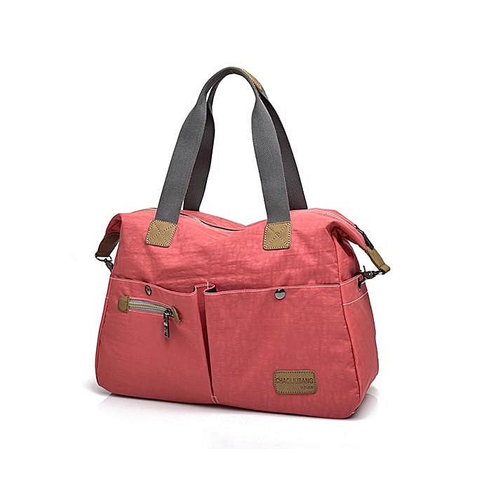 mode femmes Vintage Nylon Tote Handsacs Front Pockets Shoulder sacs capacité bandoulière sacs rouge à prix pas cher