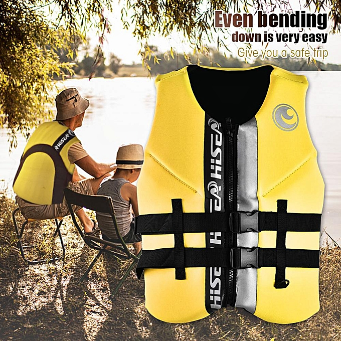 Other Hisea Life Jacket Buoyancy Waistcoat Lifesaving Vest For Men femmes Teenagers Adult jaune (M) à prix pas cher