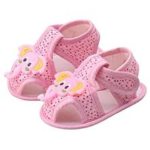 63ed253867f4b Cartoon Elephant Pattern Bébé Soft Sole Chaussures Toddler Sandals -Pink