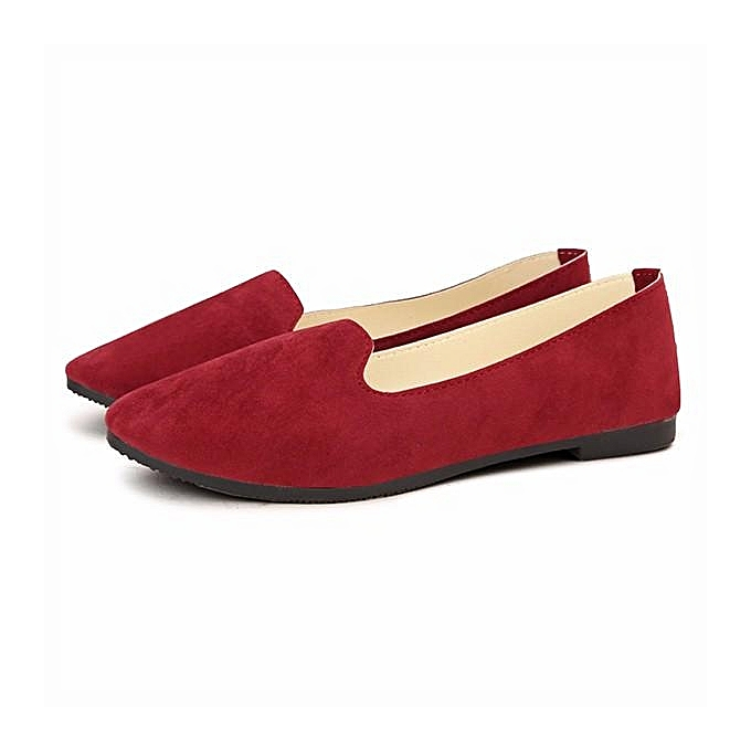 Fashion Wohommes chaussures Flats Female Spring Summer Casual Pointed Toe 2017 new arrived rouge à prix pas cher    Jumia Maroc
