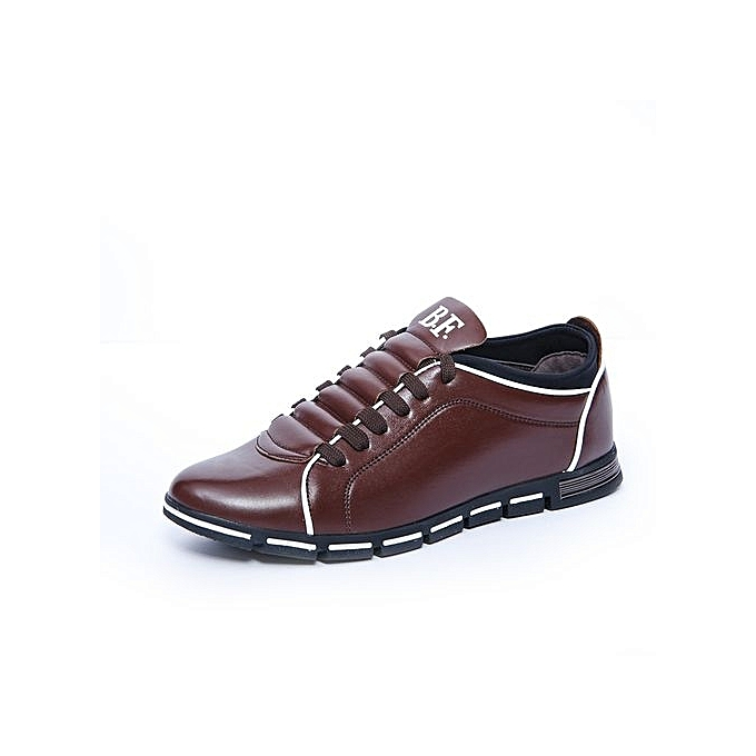 Generic 2017 Men's Dress Modern Classic Lace Up Leather Formal chaussures Men Genuine Leather Casual chaussures Super Plus Taille38-48 -marron à prix pas cher