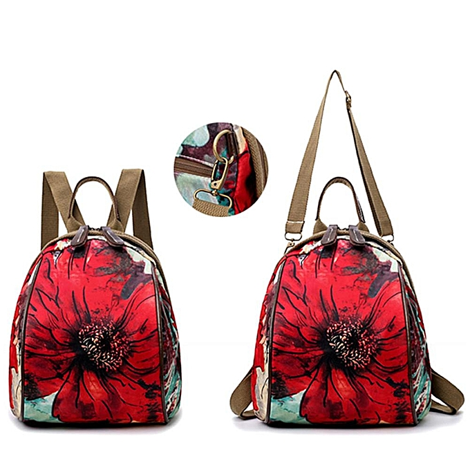 UNIVERSAL femmes Nylon Flower Pattern National Style Handbag Shoulder Bags Backpacks à prix pas cher