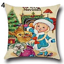 Christmas Xmas Santa Claus Deer Cotton Linen Pillow Case 4