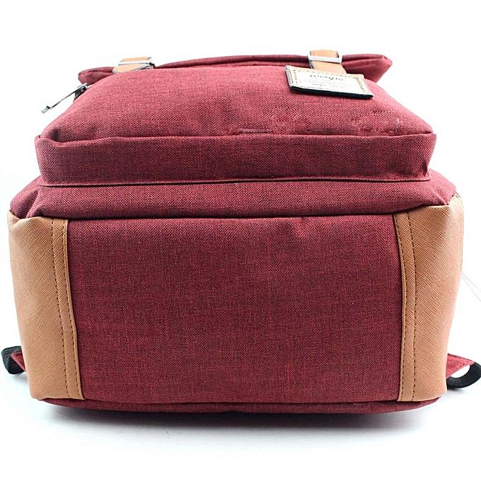 mode Tcetoctre femmes Or Hommes Vintage toile sac à doss School sac à doss High Quality RD- rouge à prix pas cher