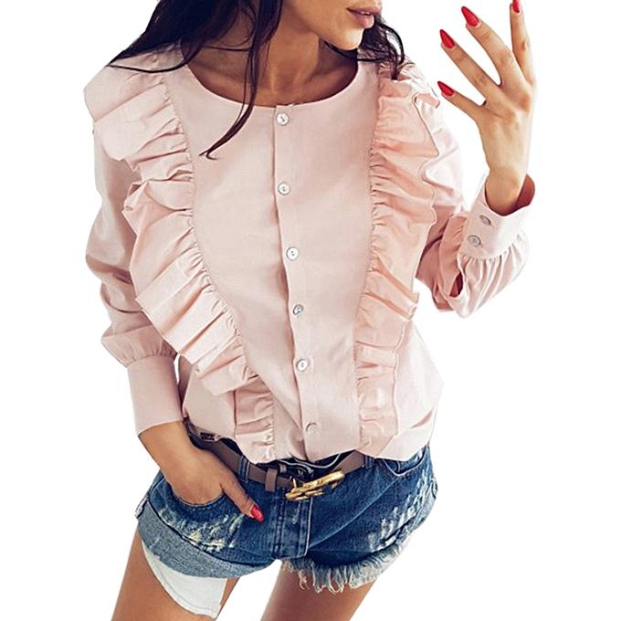 mode mode femmes Décontracté hauts T-Shirt Loose Top manche longue chemisier à prix pas cher