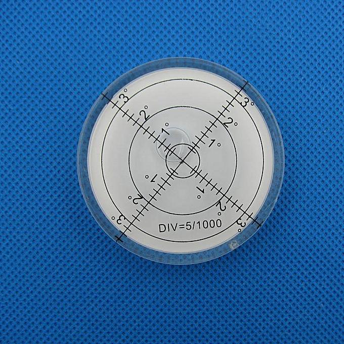 Autre HACCURY 6012mm Circular Bubble Level Spirit level Round Bubble level Universal Prougeractor(blanc) à prix pas cher