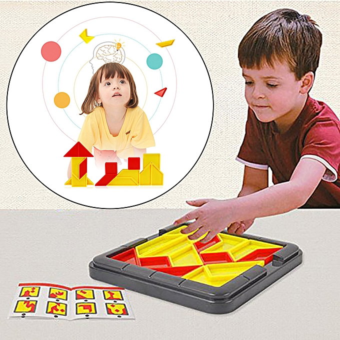 Generic Kids Plastic Jigsaw Puzzle IQ Brain Teaser Educational Tangram Toy Cube Game à prix pas cher