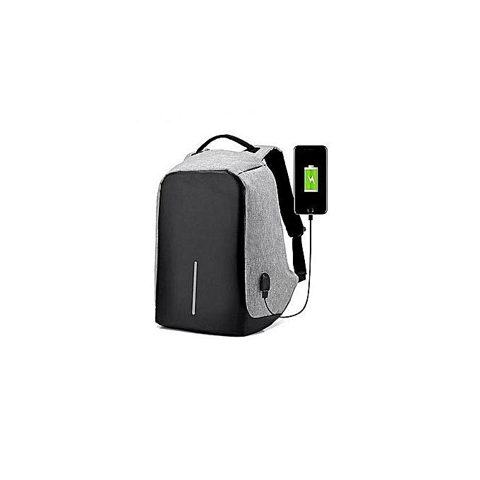 OEM Refined Anti Theft Hommes mode USB Charger 15.6inch Laptop sac sac à doss voyage Décontracté Schoolsac For Boy gris à prix pas cher