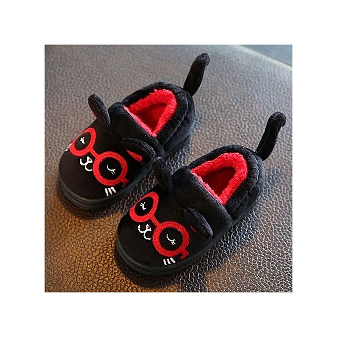 Eissely Cute Toddler Bow Baby Girls Plush Soft Sole Non-slip Warm Velvet Snow chaussures- noir à prix pas cher    Jumia Maroc