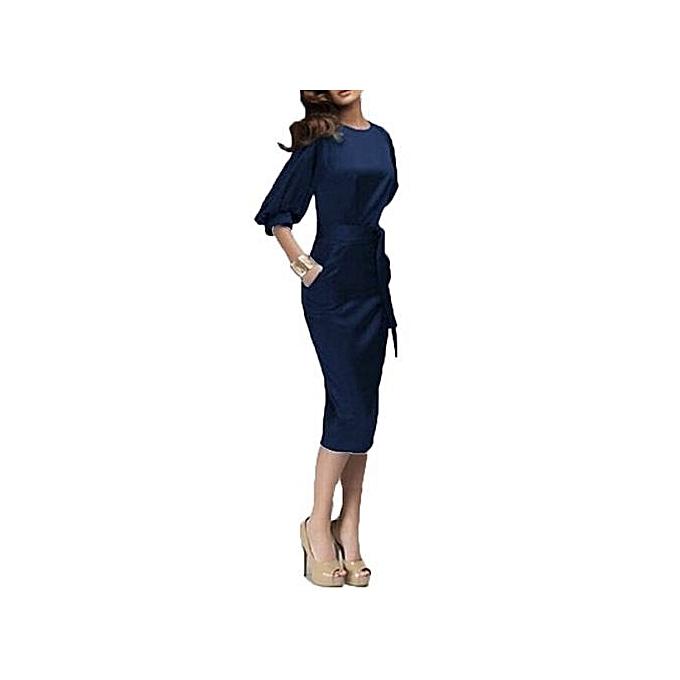 Generic Hot femmes Spring Autumn Work Dress European Half Sleeve Elegant Ladies Bodycon Pencil Slim Party Dresses à prix pas cher
