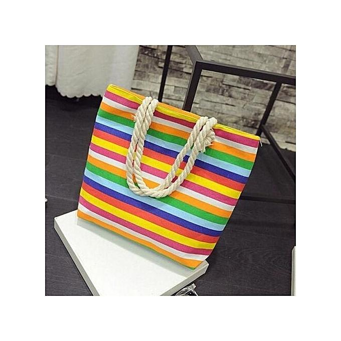 Siketu Fashion femmes Casual Print Canvas Handbag Single Shoulder Messenger Bag MR- MultiCouleur à prix pas cher