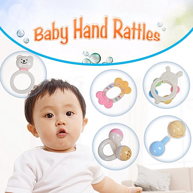 Autre GOODWAY 3315   Hand Rattles Kit Teether Bed Bell Toys Enfants Happy Buddy nouveauborns Gift à prix pas cher