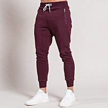 Pantalon de survêtement bordeaux coupe classique pour une sensation sportive daf7bb84ca2