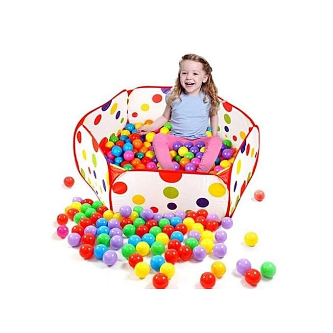 nouveauorldline Pop Up Hexagon Polka Dot Enfants Ball Play Pool Tent voiturery Tote Jouets +50 Balls-rouge à prix pas cher